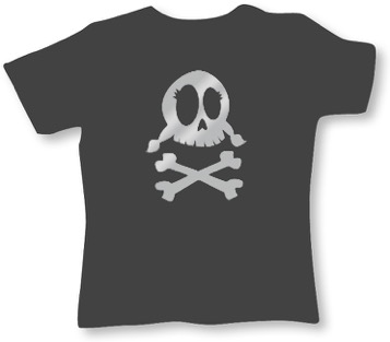 Frauen T-Shirt anthrazit